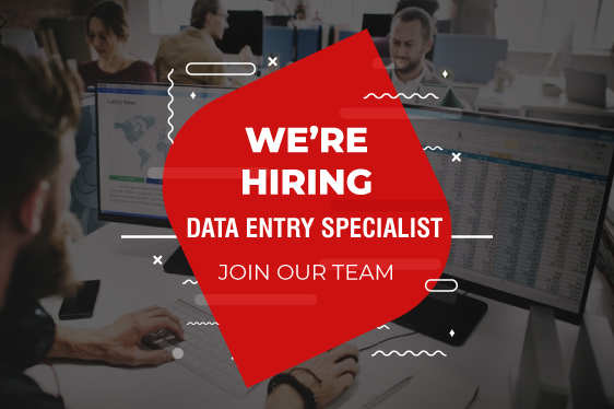 We are Hiring Data Entry Specialist